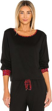 Long Sleeve Top in Black. - size L (also in M, S, XS)