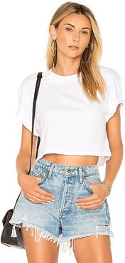 The Crop Tee in White. - size L (also in M, S, XS)