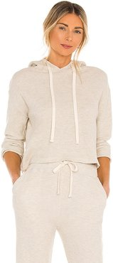 Brushed Thermal Pull Over in Nude. - size L (also in M, S, XS)