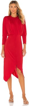 In A Rouche Dress in Red. - size M (also in S, XS)