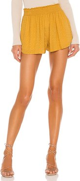x REVOLVE Kamal Short in Mustard. - size L (also in M, S, XL, XS)