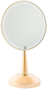 Bijou LED Hand Mirror with Charging Stand in Champagne Gold.