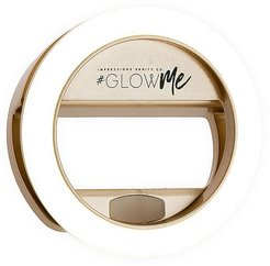 GlowMe 2.0 USB Rechargeable LED Selfie Ring Light in Champagne Gold.