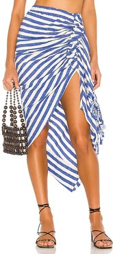 Tulum Skirt in Blue. - size L (also in M, XS)