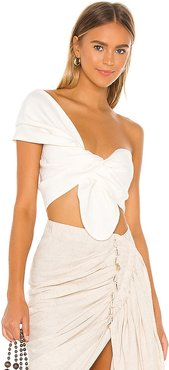 Sol Top in White. - size M (also in S, XS)