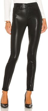 Maria High Rise Sateen Skinny in Black. - size 24 (also in 27, 28, 30)