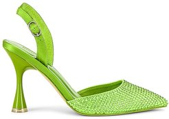 Zivote Slingback Heel in Green. - size 10 (also in 6.5, 7.5, 8, 8.5, 9.5)
