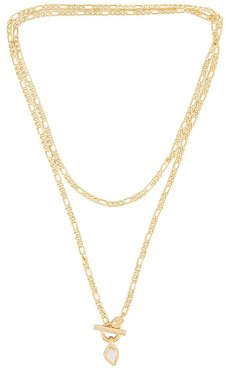 Seychelles Wrap Necklace in Metallic Gold.