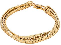 Priya Layered Bracelet in Metallic Gold.