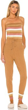 Snowmass Jumpsuit in Brown. - size L (also in M, S, XS)