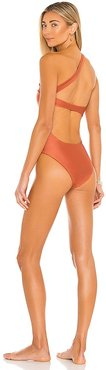 Halo One Piece in Metallic Copper. - size M (also in S, XS)