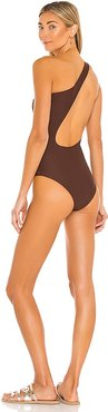Evolve One Piece in Chocolate. - size L (also in M, S, XS)