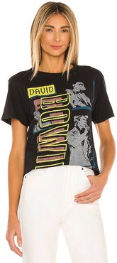 David Bowie Let's Dance Tee in Black. - size L (also in M, S, XS)