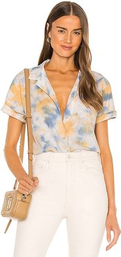 Ana Cropped Shirt in Orange. - size L (also in M, S, XL, XS)