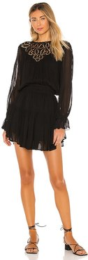 Anabelle GGT Embellished Mini Dress in Black. - size L (also in M, S, XS)