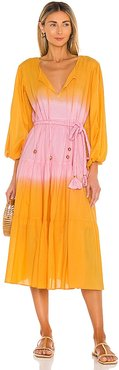 Sun Maxi Dress in Yellow,Pink. - size S (also in XS)