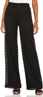 Solana Knit Pants in Black. - size L (also in M, S, XS)