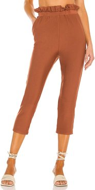 Fearless Pant in Cognac. - size L (also in M, S, XL, XS)