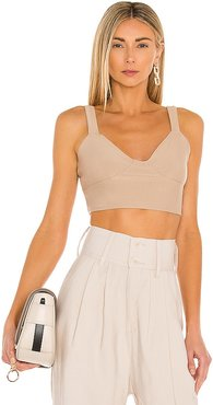 Babelet Top in Tan. - size L (also in M, S, XL)
