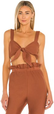 Temp Rising Top in Cognac. - size L (also in M, S, XL)
