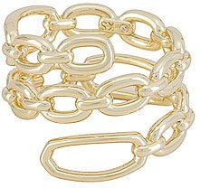 Ryder Wrap Ring in Metallic Gold. - size 6 (also in 7)