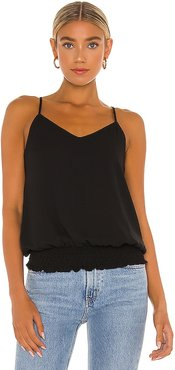 Smocked Waist Cami in Black. - size L (also in M, S, XS)