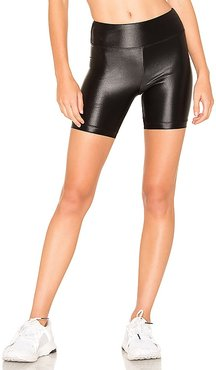 Slalom High Rise Infinity Short in Black. - size L (also in M, S, XS)