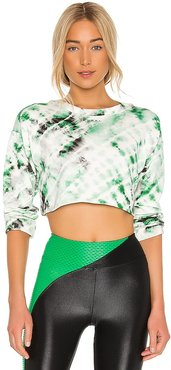 Valor Dive Crop Top in Green. - size L (also in S, XS)