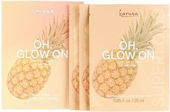 Oh Glow On Sheet Mask 3 Pack in Beauty: NA.