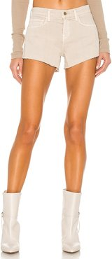 Audrey Mid Rise Short in Beige. - size 24 (also in 25, 28, 30)