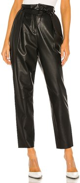 Umay Leather Pant in Black. - size 2/XS (also in 4/S, 6/M, 8/L, XL)