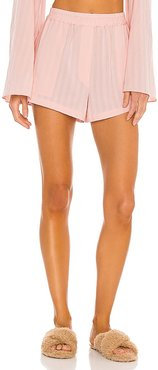 Elastic Waist Pajama Short in Pink. - size L (also in M, S, XL, XS, XXS)