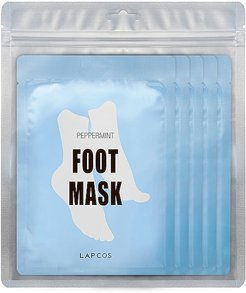 Peppermint Cooling Foot Mask 5 Pack in Beauty: NA.