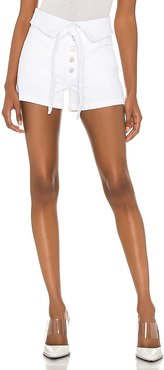 High Rise Lola Short in White. - size 23 (also in 24, 25, 26, 27, 28, 29, 30, 31, 32)