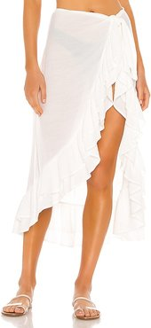 Lakeview Sarong in White. - size L (also in M, S, XL, XS, XXS)