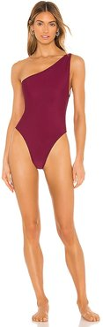 The Angie One Piece in Wine. - size M (also in S, XS, XXS)