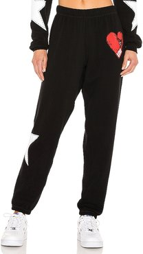 Tanzy Long Pant in Black. - size L (also in M, S, XS)