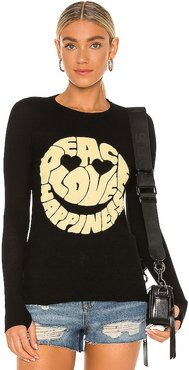 McKinley Happy Face Tee in Black. - size L (also in M, S, XL, XS)