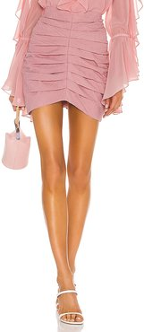 Laise Pleated Mini Skirt in Pink. - size M (also in XS)