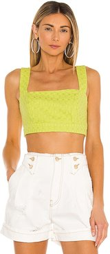 Izabela Crop Top in Yellow. - size L (also in M, S, XS)