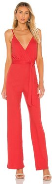 Fiona Jumpsuit in Red. - size L (also in M, S, XL, XS, XXS)