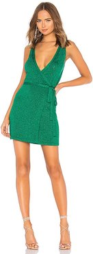 Wrap Up Sweater Dress in Green. - size M (also in S, XS)