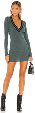 Penny Sweater Dress in Green. - size L (also in M, S)