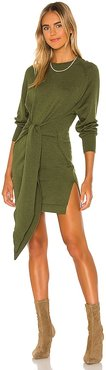 Elana Mini Dress in Olive. - size M (also in S, XS, XXS)
