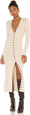 Kavala Sweater Dress in Ivory. - size L (also in M, S, XS)