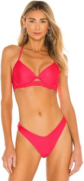 Cosita Buena Bikini Top in Red. - size M (also in S, XL, XS)