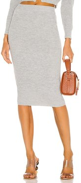 Elsie Knit Skirt in Grey. - size L (also in M, S, XS)