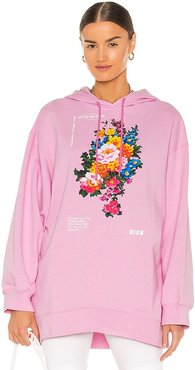Felpa Graphic Hoodie in Pink. - size L (also in M, S, XS)