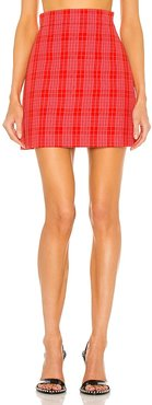 Plaid Skirt in Red,Pink. - size 38/XS (also in 44/L)
