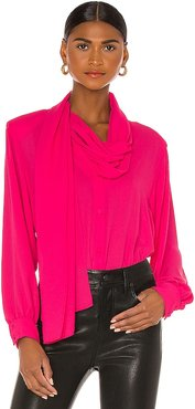 Scarf Blouse in Pink. - size 38/XS (also in 40/S, 42/M, 44/L)